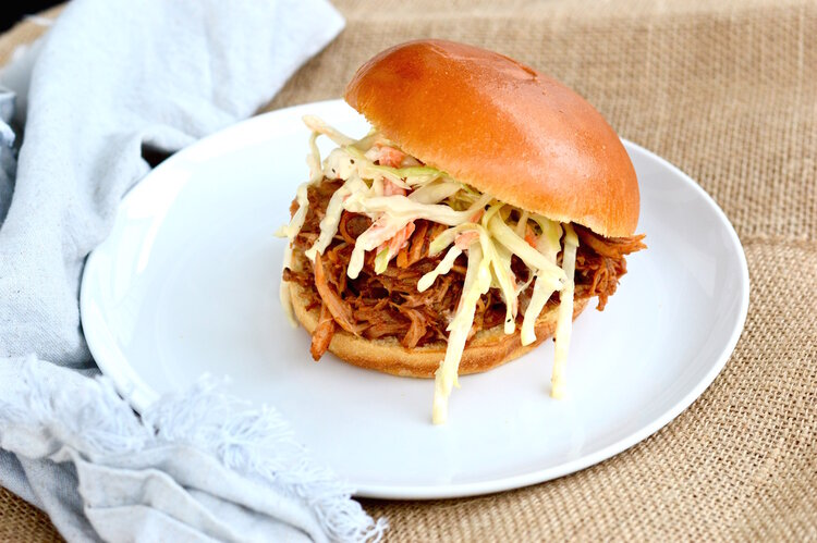 Pulled pork, crockpot pulled pork, bbq, barbecue, homemade coleslaw