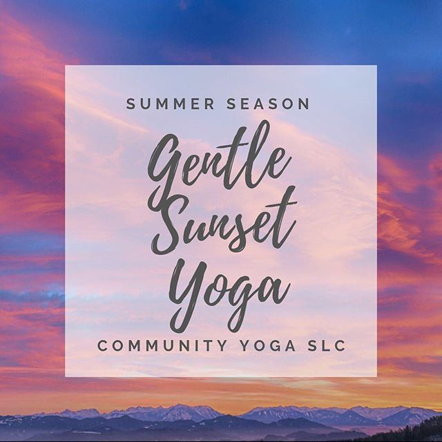 Gentle Sunset Yoga will continue into the summer! Every Tuesday from 6:15-7:15pm at Sugarhouse Park (NE corner, past baseball field, across from white gazebo). Link in bio to all events! . . . #communityyogaslc #yogaoutside #saltlakeyoga #yogainthepark