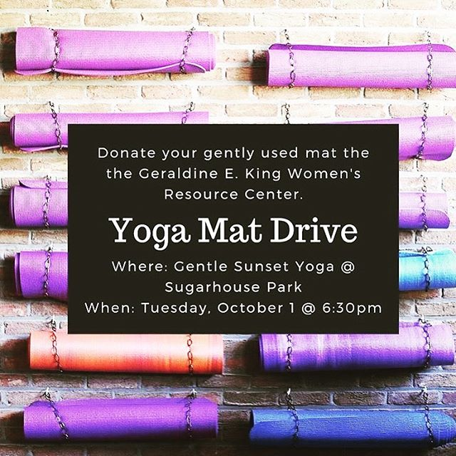 TONIGHT!  P.S. Bundle up! Fall is here. Only a few more weeks of #gentlesunsetyoga outdoors with @courtneysuehoward ! 🍁