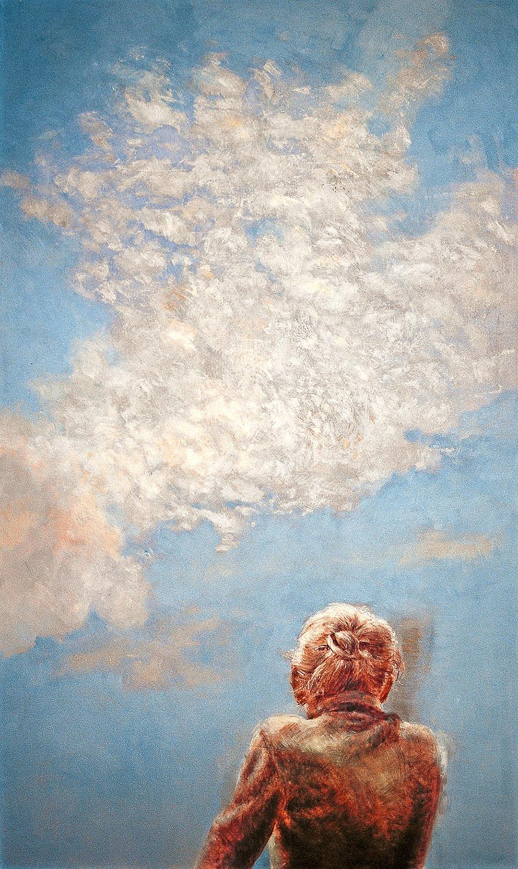 Vorm Himmel - 2005, 60 x 100,Tempera / Leinwand