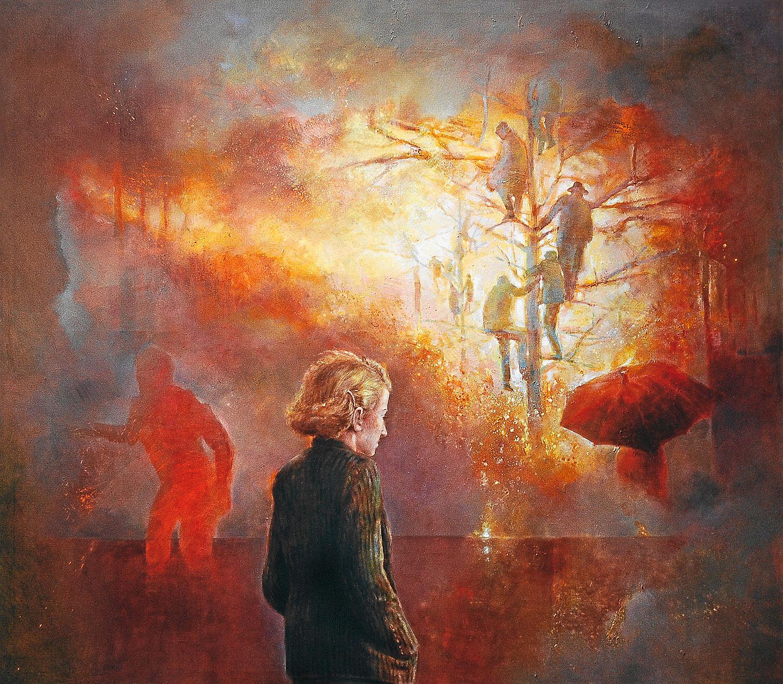 Feurio 2 - 2002, 180 x 150,Tempera / Leinwand