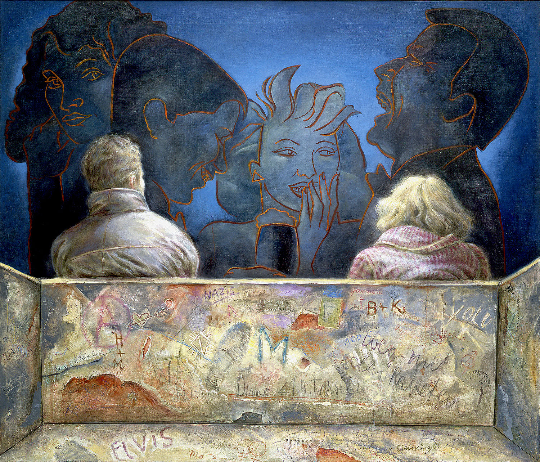 Mann und Frau - 1986, 140 x 120,Mischtechnik / Leinwand