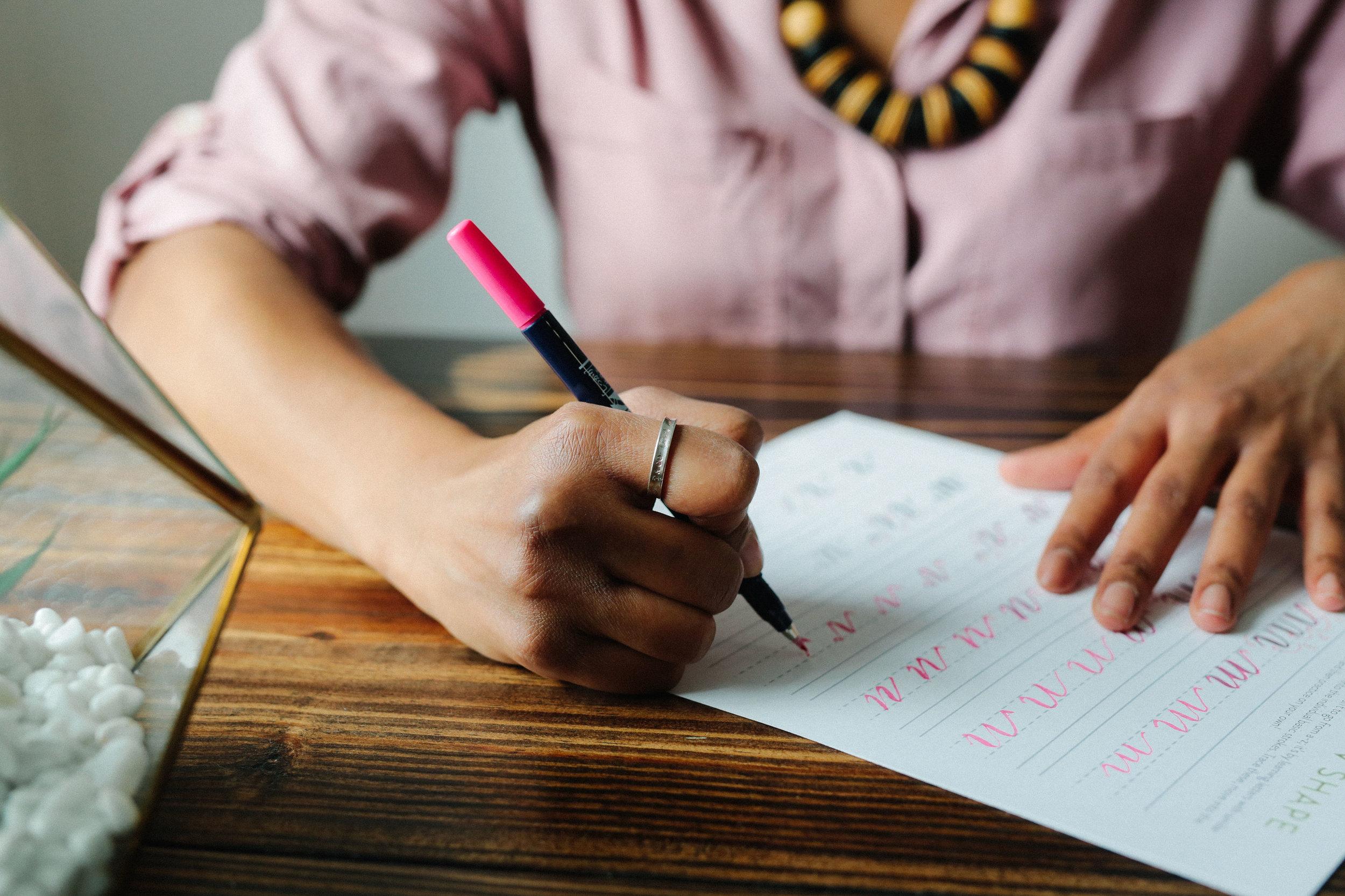 Modern Brush Calligraphy Worksheets for Beginners | Hoopla! Letters