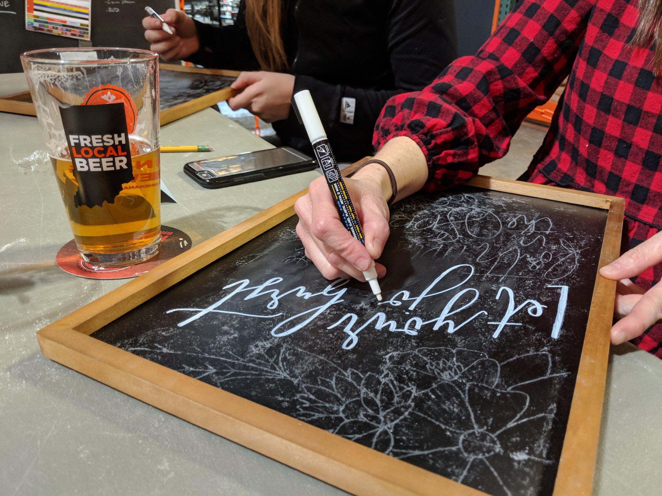 DIY Chalk Art | Hoopla! Letters