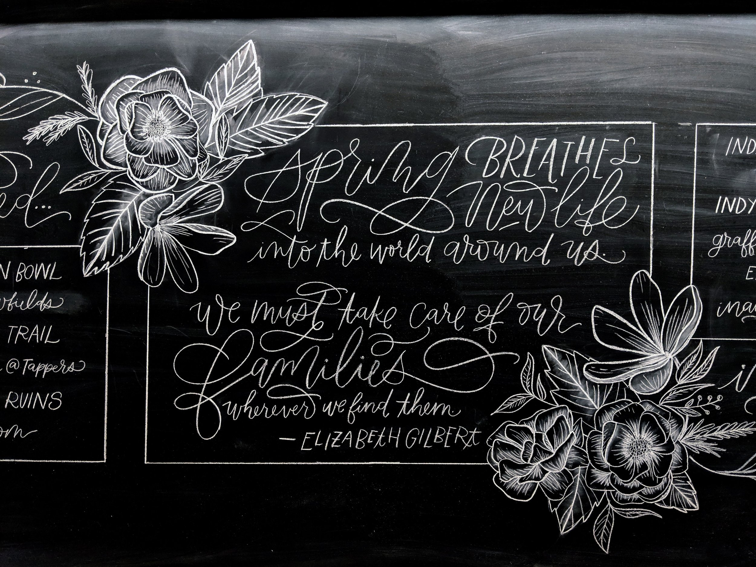 Calligraphy Chalkboards & Murals by Hoopla! Letters
