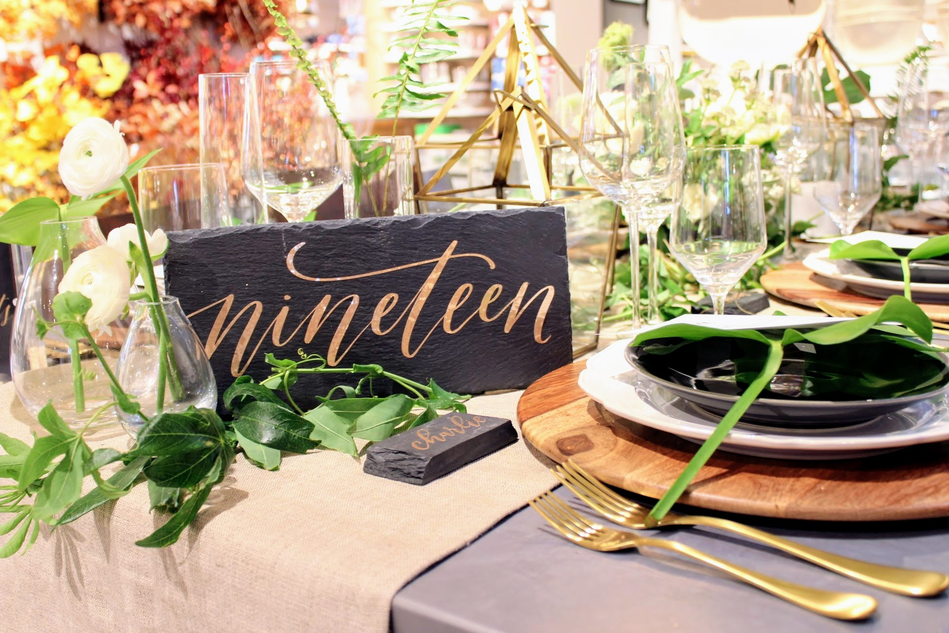 Table Numbers | Modern Calligraphy by Hoopla! Letters