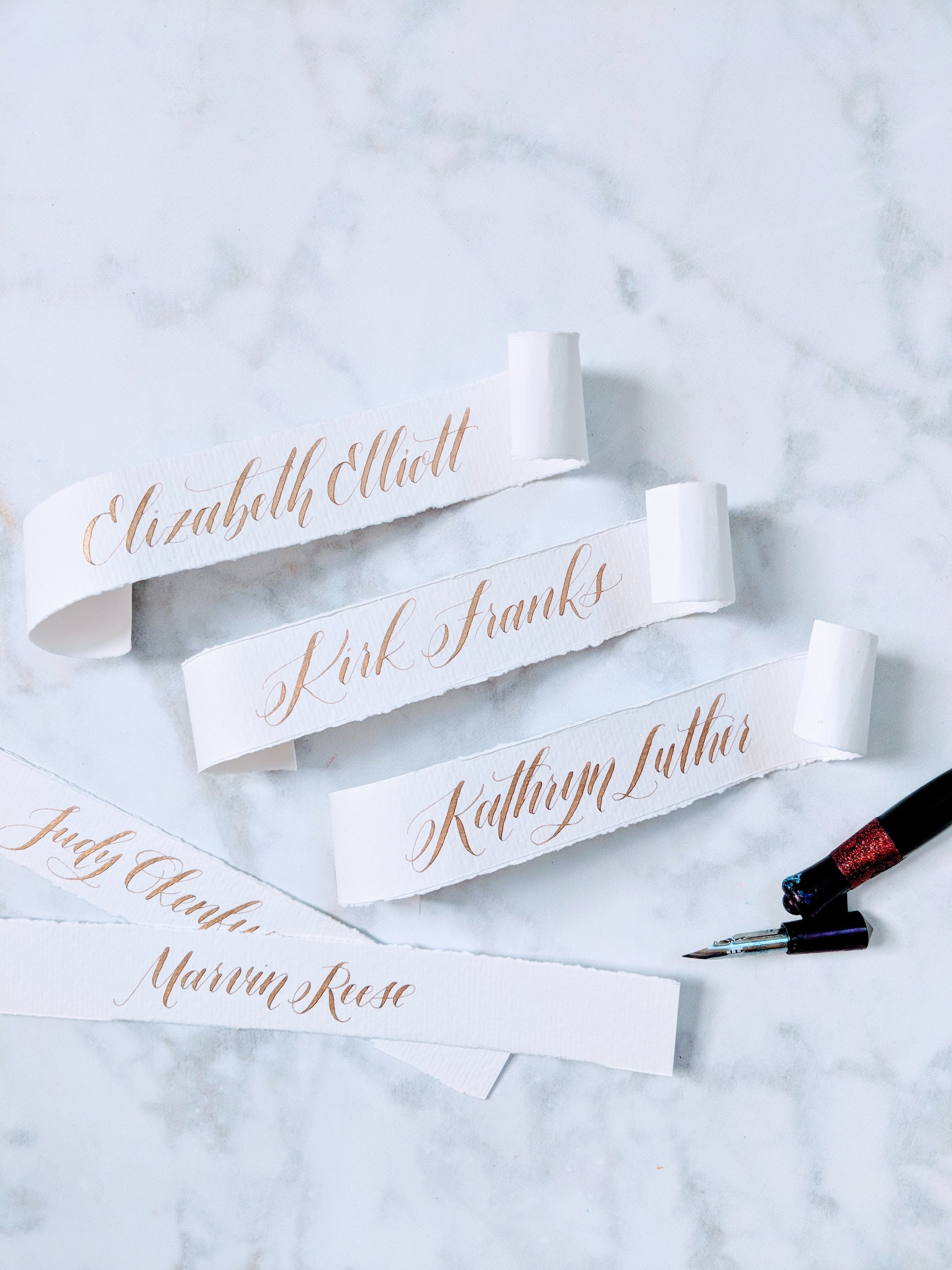 Name Cards | Modern Calligraphy by Hoopla! Letters
