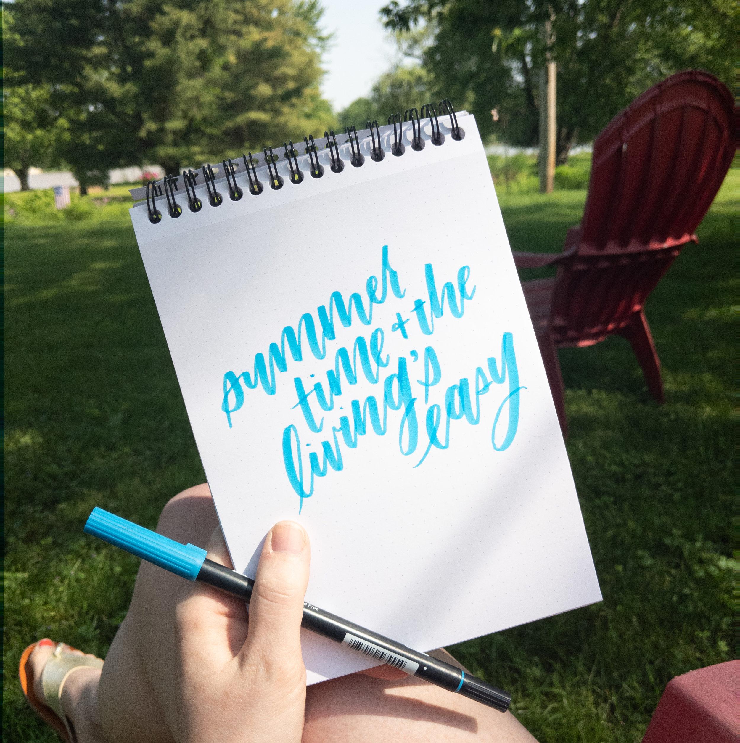 Calligraphy En Plein Air