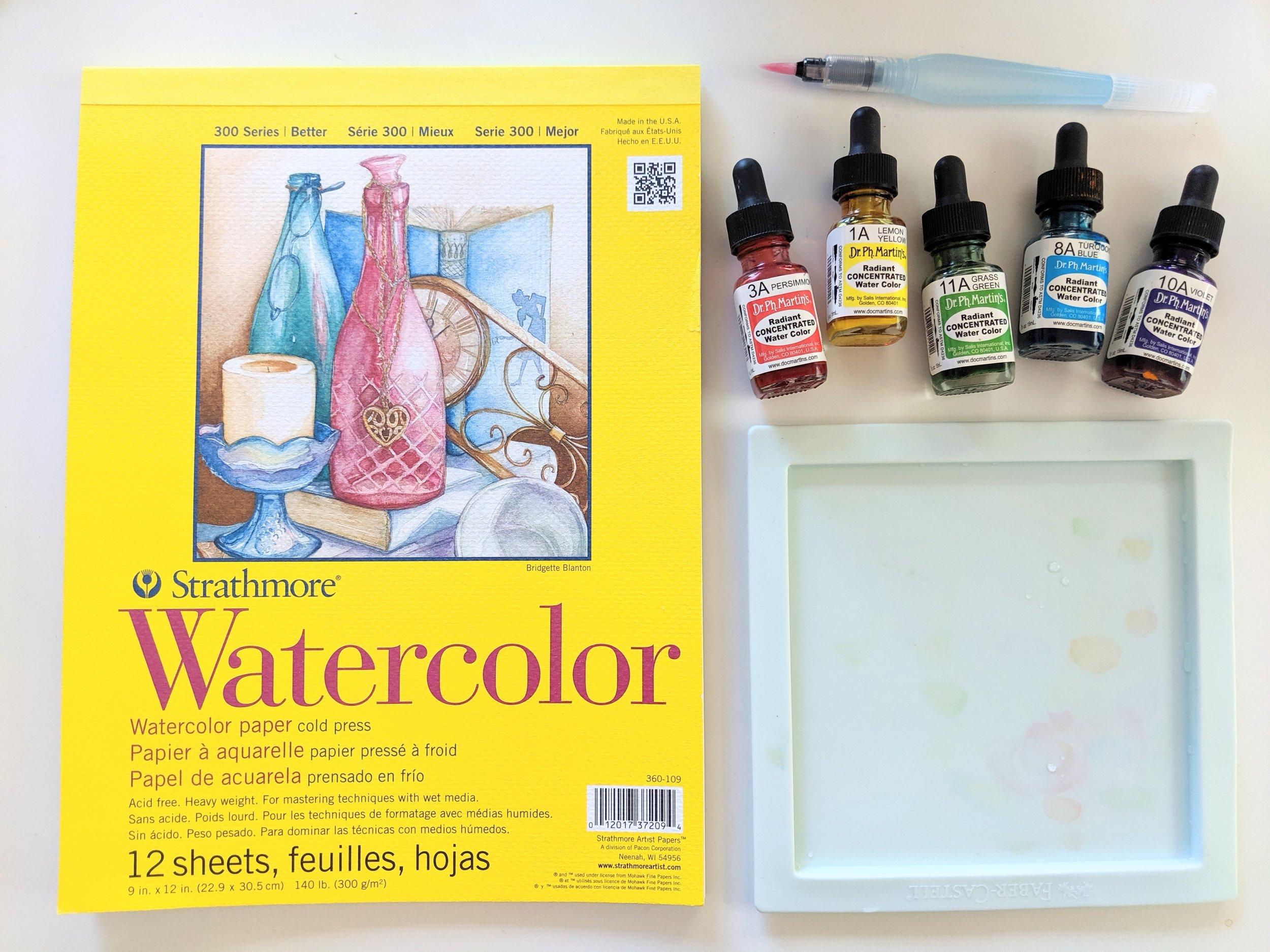 PRIDE Quote Watercolor Tutorial - Materials