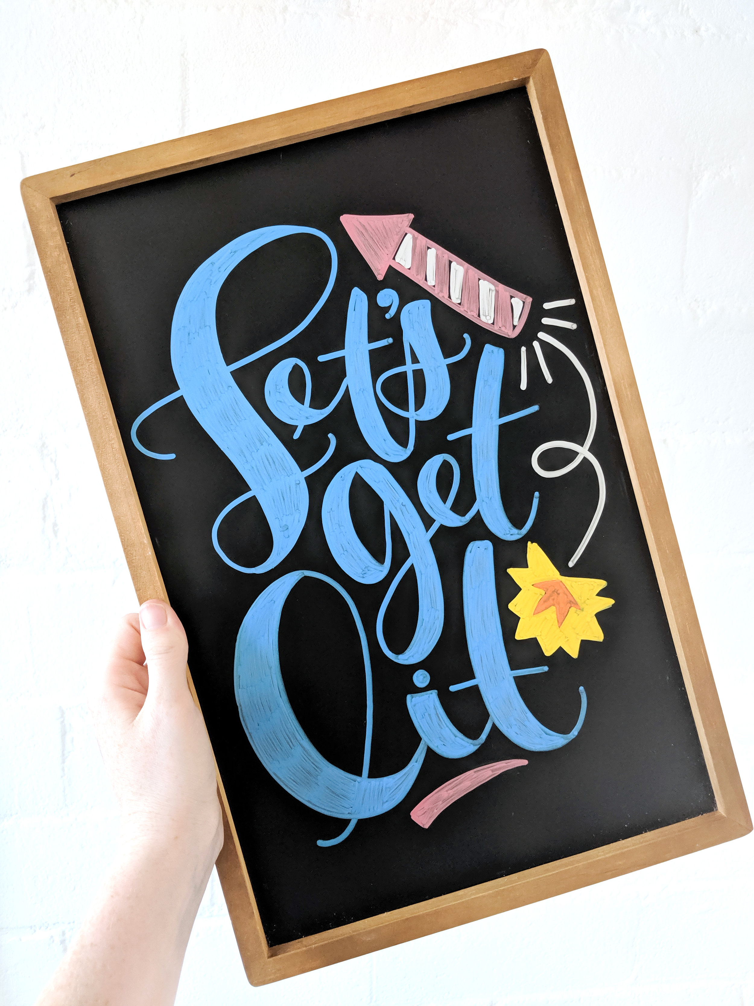 Let's Get Lit 4th of July Chalkboard Template | Hoopla! Letters