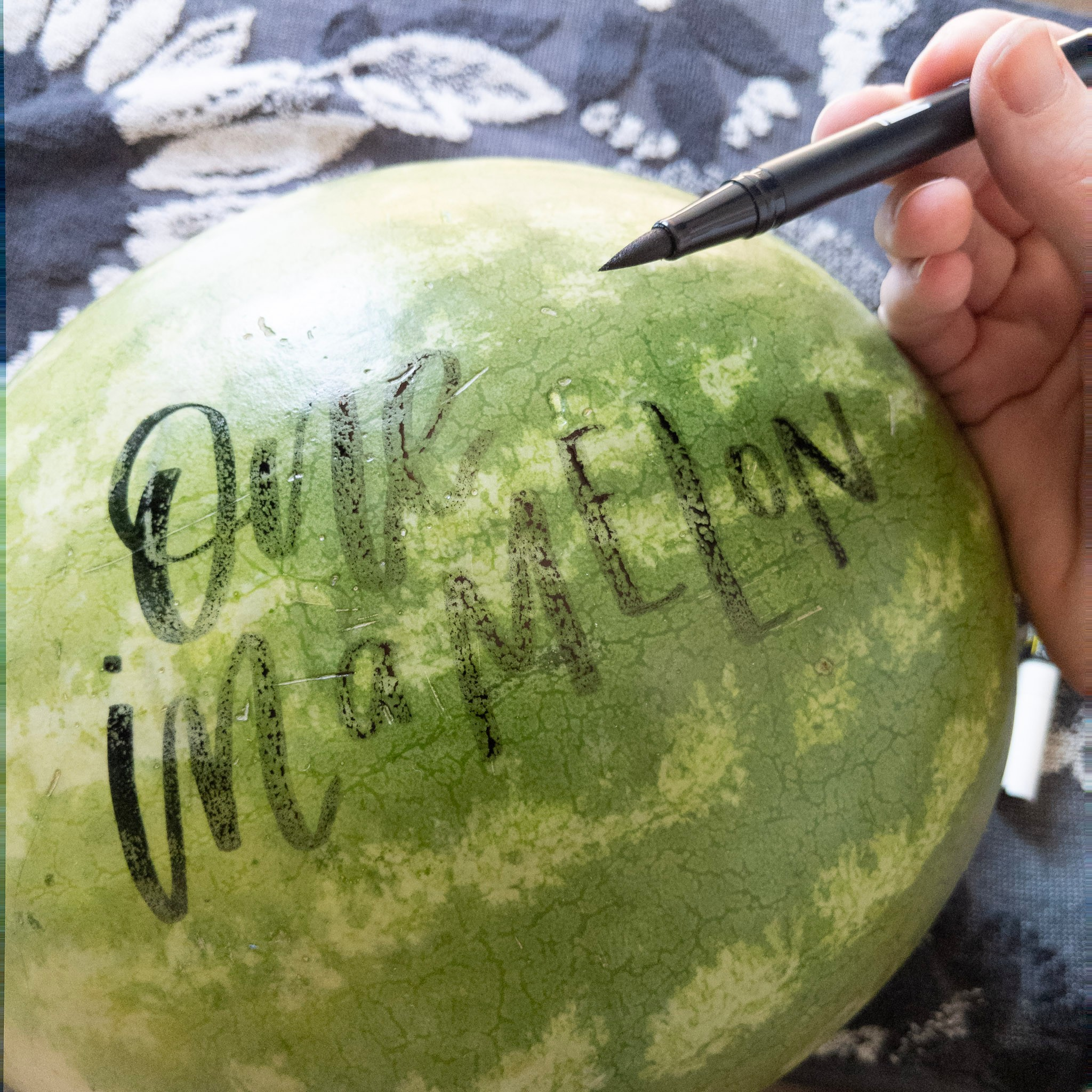 How to Write Calligraphy on a Watermelon | Hoopla! Letters