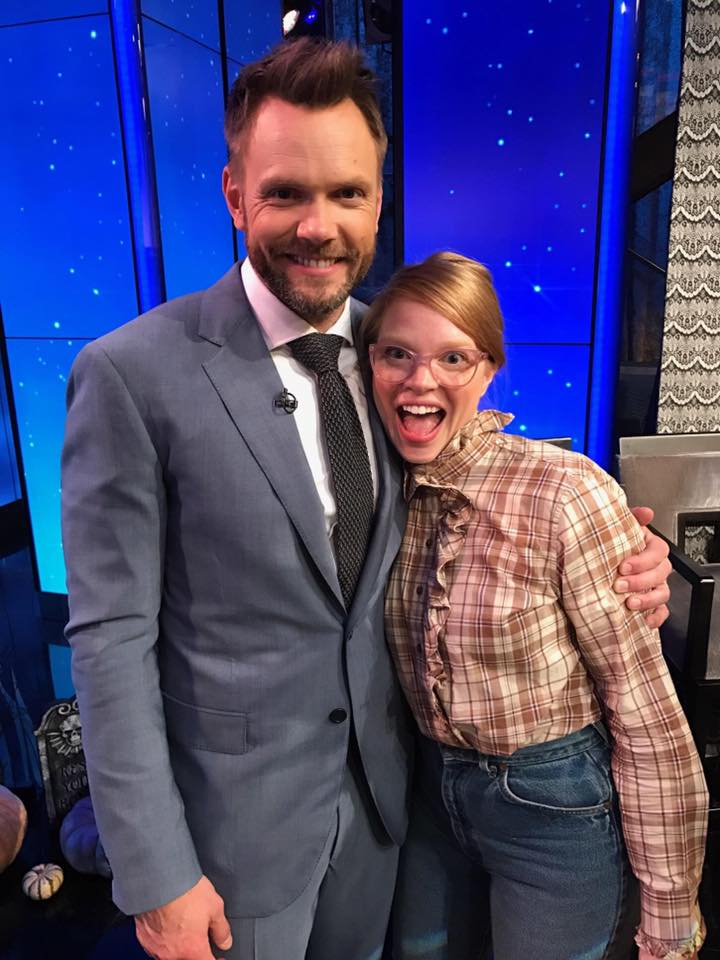 As evidence of my love for Halloween: made my national TV debut during a DIY segment on Live with Kelly dressed as Barb from Stranger Things. This isn't how I wanted you to see me, Joel McHale!