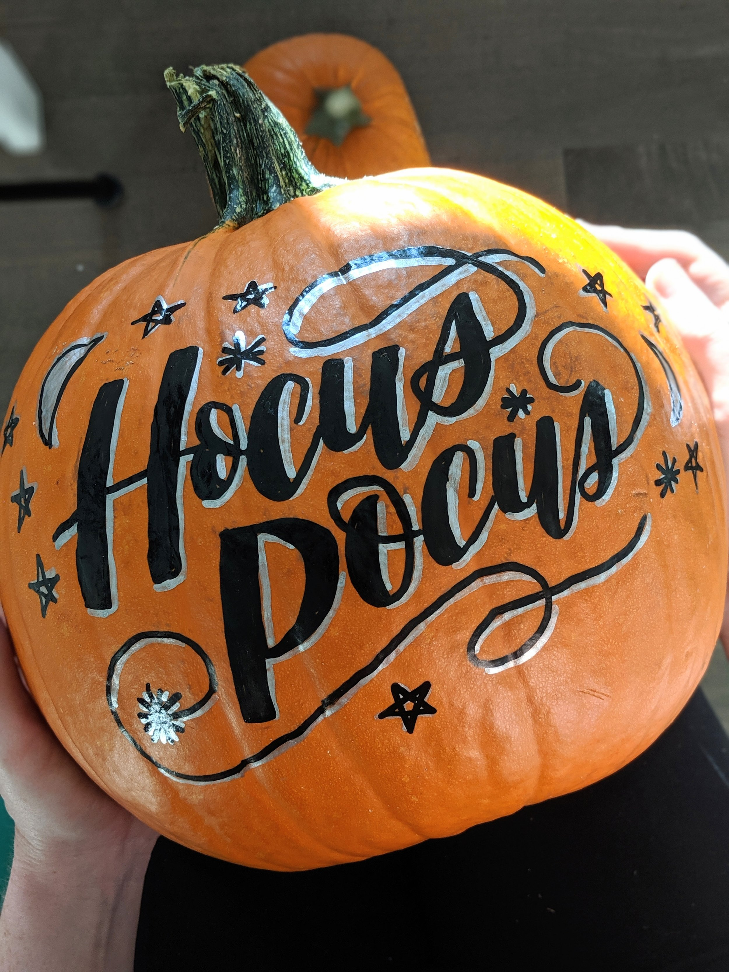 How to Create a Calligraphy Pumpkin   Hoopla! Letters