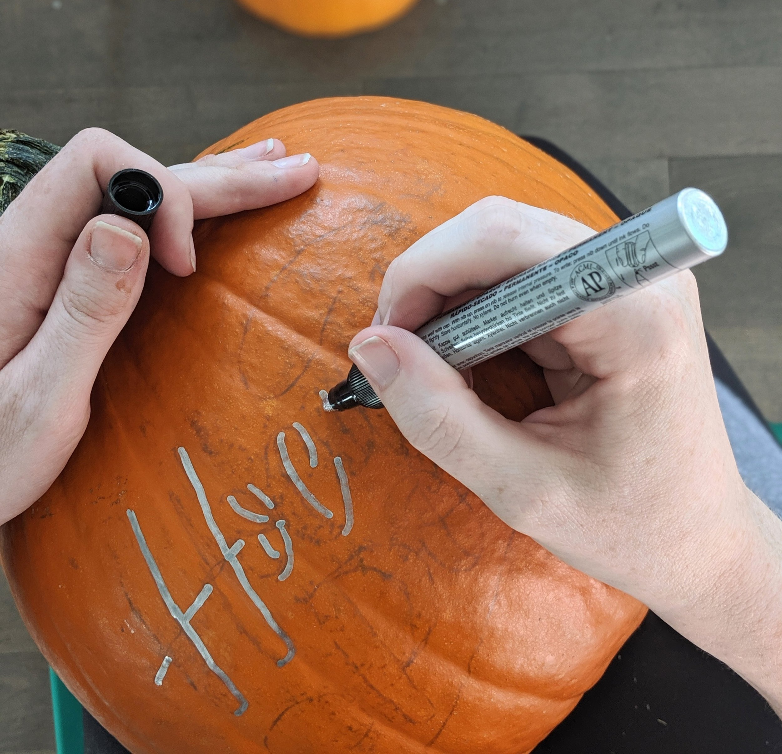 How+to+Create+a+Calligraphy+Pumpkin+%7C+Hoopla%21+Letters