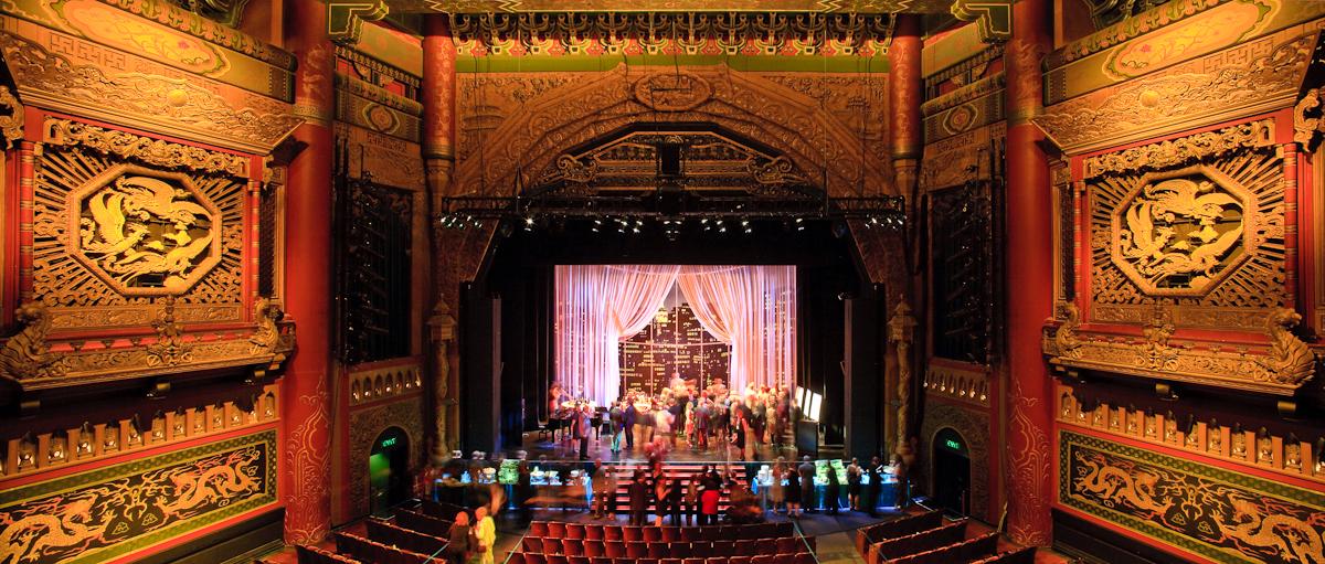 Interior space of the 5th avenue theatre