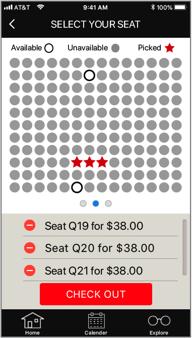 Select your seat