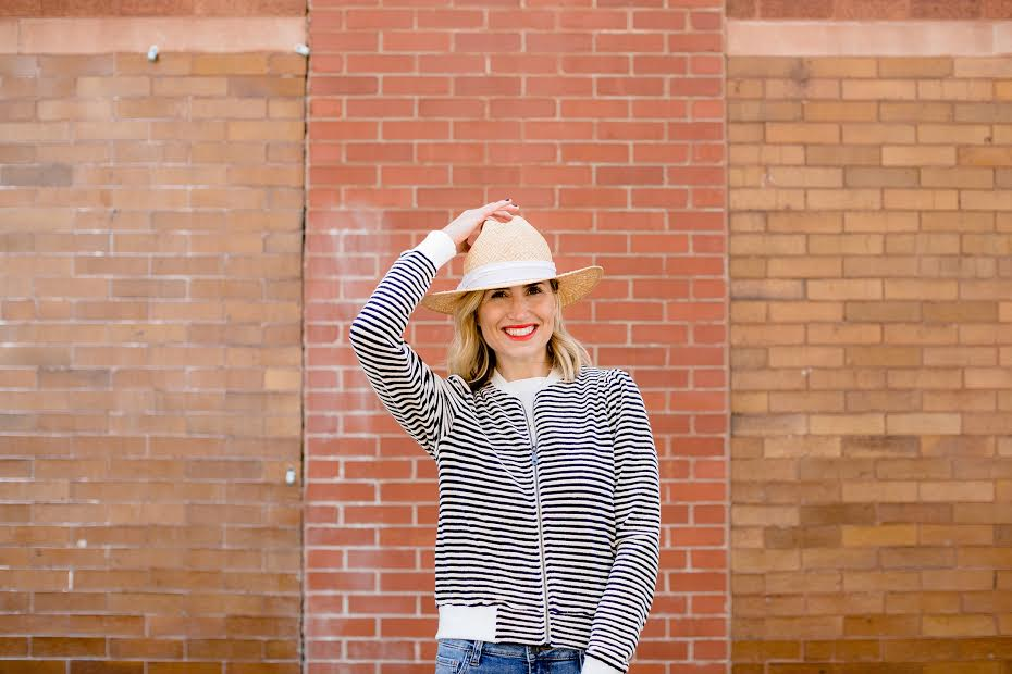 Hat and zip jacket-  Cinnamon Boutique  Photo-  ND Photo