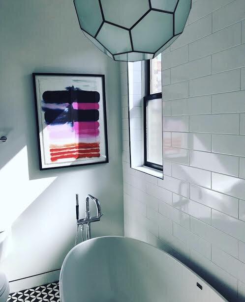 Love Shack by Kristi Kohut  in our master bathroom