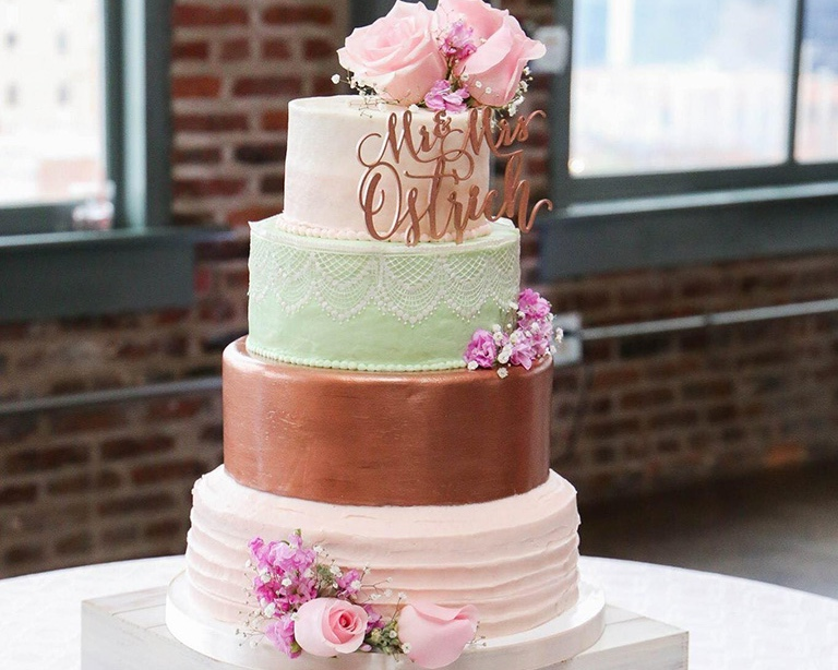 Icing Cafe - There is absolutely none better for desserts and custom cakes than Icing Cafe. We met Icing Cafe at a wedding fair a couple of years back and after all of the cake samples, I have been instructed not to return by my doctor. Their cakes are absolutely to die for, and their design is second to none. Also, centrally located between South County and Downtown, your guests' dessert fix is never far away.www.icingcafe.com