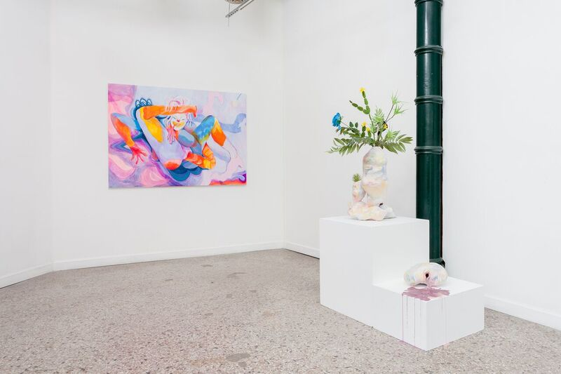 Two person exhibition at Roots & Culture with Mel Cook, 2018