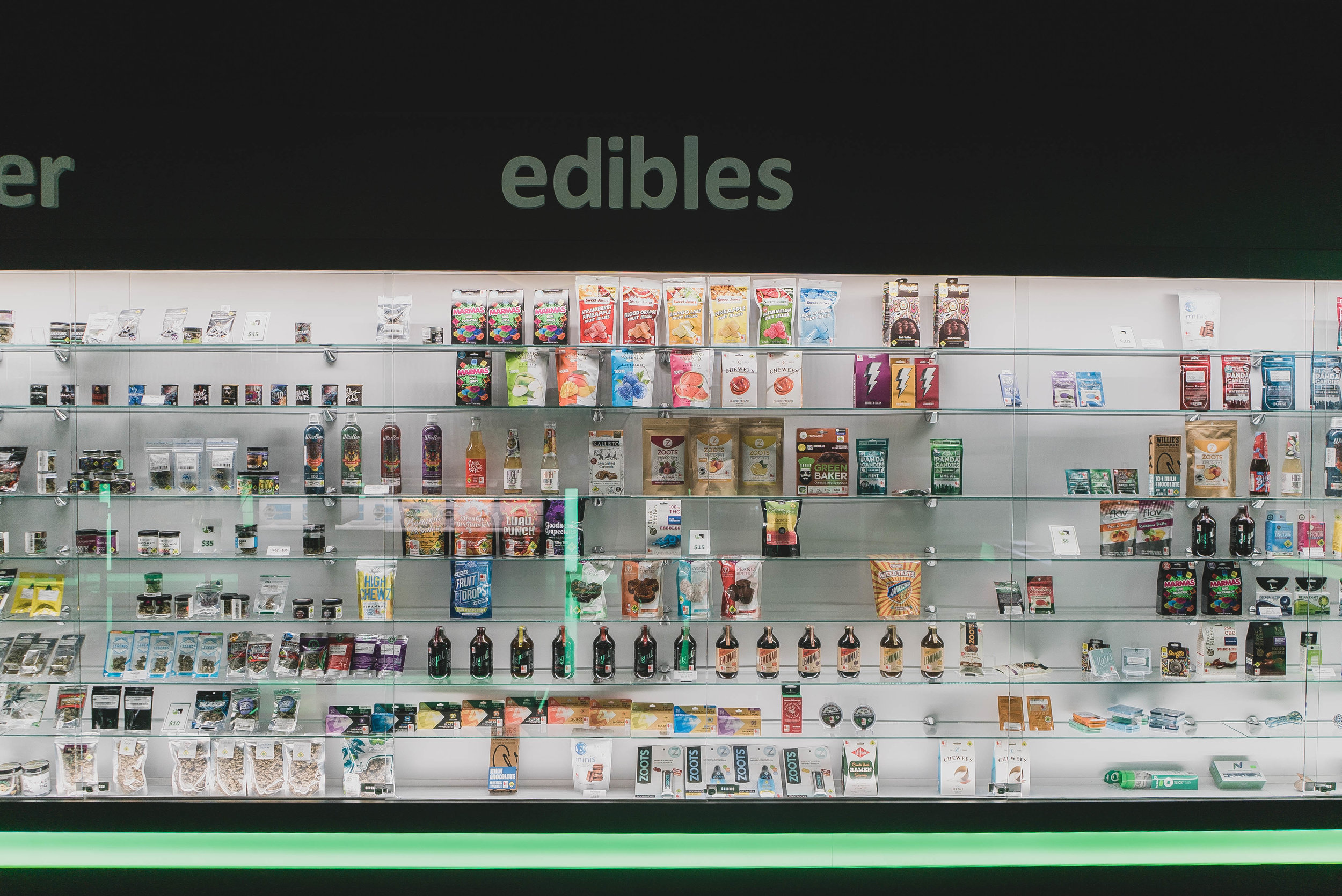EDIBLES - Our wide selection of edibles includes brownies, sodas, tinctures, coffee, candy & way more than you could ever want.