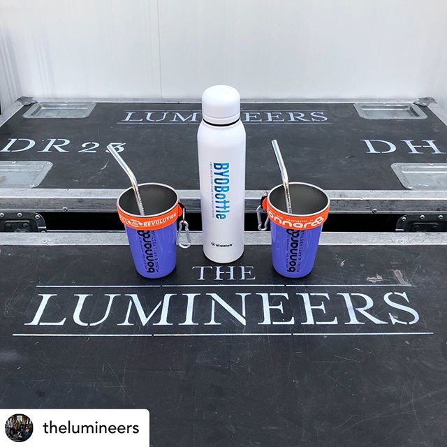 @thelumineers have joined the growing list of #BYOBottle artists touring with reusable water bottles. Thanks for reducing plastic waste and rocking your reusables this festival season! @plasticpollutes @steelysdrinkware - - - - Repost // @thelumineers We're swapping out plastic water bottles for reusable water bottles as part of #BYOBottle, a music industry campaign to reduce plastic waste. #BYOBottle to our next show and let's turn the tide on plastic pollution @plasticpollutes