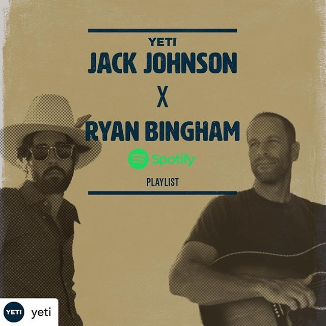 Check out the new @yeti Spotify playlist featuring #BYOBottle artists! Proud to have #YETI on board as a #BYOBottle business partner, offering reusable water bottles and water refill stations at music festivals.👏🏼💧 - - - - Repost / / @yeti Artists @jackjohnson and @ryanbingham_official co-curated a playlist for us on Spotify, comprised entirely of artists who've joined the @byobottle movement - a music industry effort to turn the tide on plastic pollution. Search 'YETI' on Spotify or click the link in our bio to check it out. #BYOBottle #BuitForTheWild
