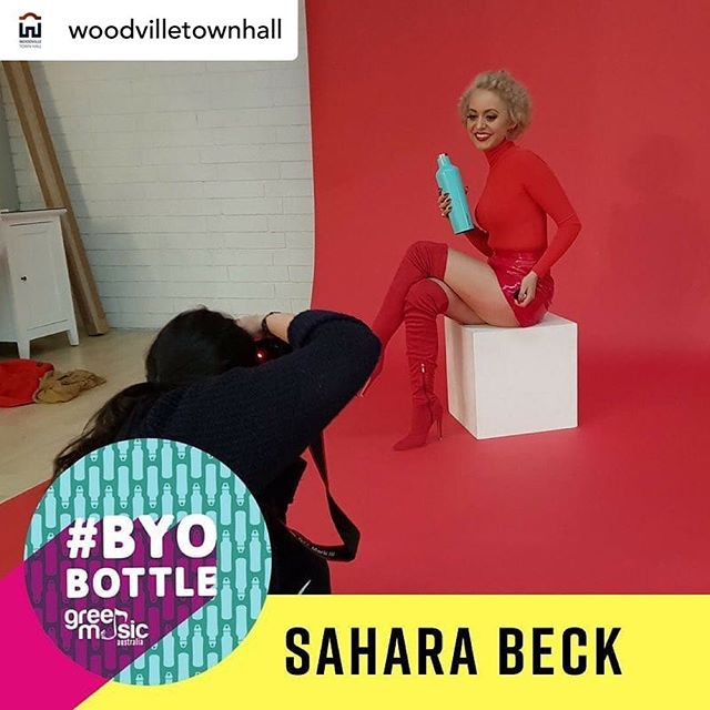 "Thanks @woodvilletownhall and @saharabeck for your support of #BYOBottle! 🙌🏻 - - - - Repost // @woodvilletownhall Woodville Town Hall is committed to being a leader in environmental responsibility.  We're so glad to be having artists like @saharabeck join us at #AltFest this Saturday who already support the #byobottle campaign.  Coming to AltFest? Make sure you BYO bottle too! Free water will be available all night for you to refill :) #Repost from @greenmusicau with @regram.app ... ""I use my re-usable water bottle everywhere I go. Not only is it better for the planet and my health... it makes life easier and is super convenient. I love my sexy re-usable water bottle!"" Sahara Beck  This woman is not to be missed live. We can't wait for your new album, Sahara!  #byobottle #plasticfreejuly #songwriter #greenmusic #saharabeck"