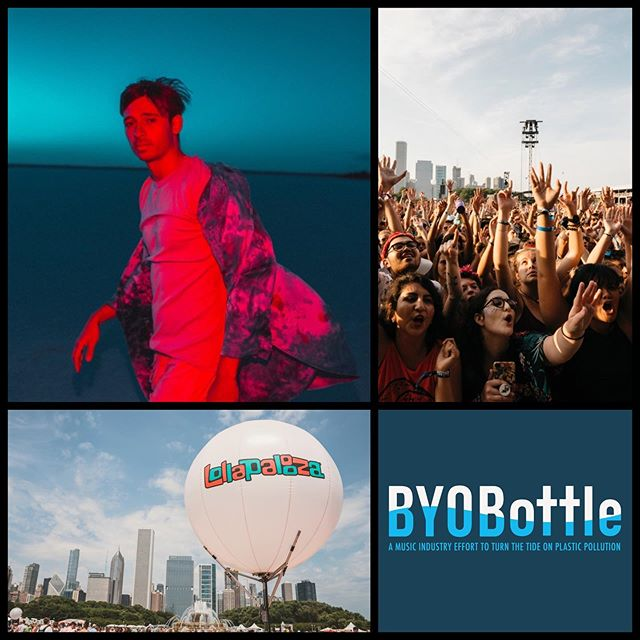 In celebration of @plasticfreejuly #Lollapalooza is giving away two GA 4-day tickets with premium viewing during @flume 's set! Enter to win by posting a photo showing how you rock your reusable water bottle during festival season. Be sure to tag #Lollapalooza and #BYOBottle, and follow both accounts. Winner will be notified by BYOBottle by July 30.  Heading to the festival? @Lollapalooza works with @eventwatersolutions to provide free, cool, filtered water at Hydrations Stations throughout the park so remember to #BYOBottle - bring your own EMPTY reusable water bottle to reduce plastic pollution. Last year #Lolla teamed up with fans to help prevent 1 million plastic water bottles from entering the waste stream! 📸: Sydney Gawlik, Roger Ho/Lollapalooza