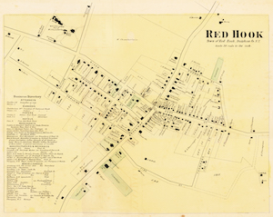 1867 Map of Red Hook Village. Click on map for larger image.