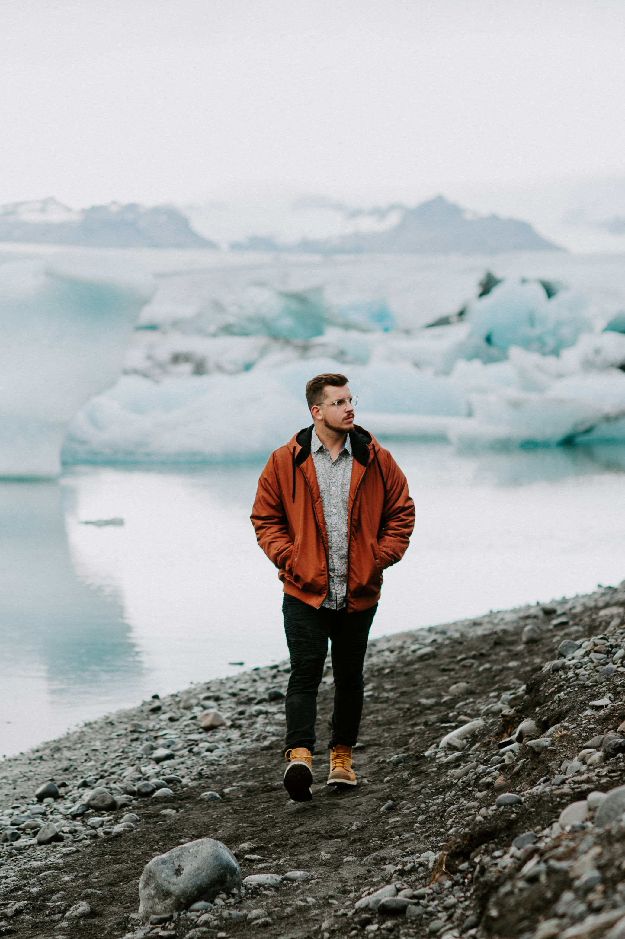 Hi, I'm RJ. - Here I am in front of some glaciers in Iceland.