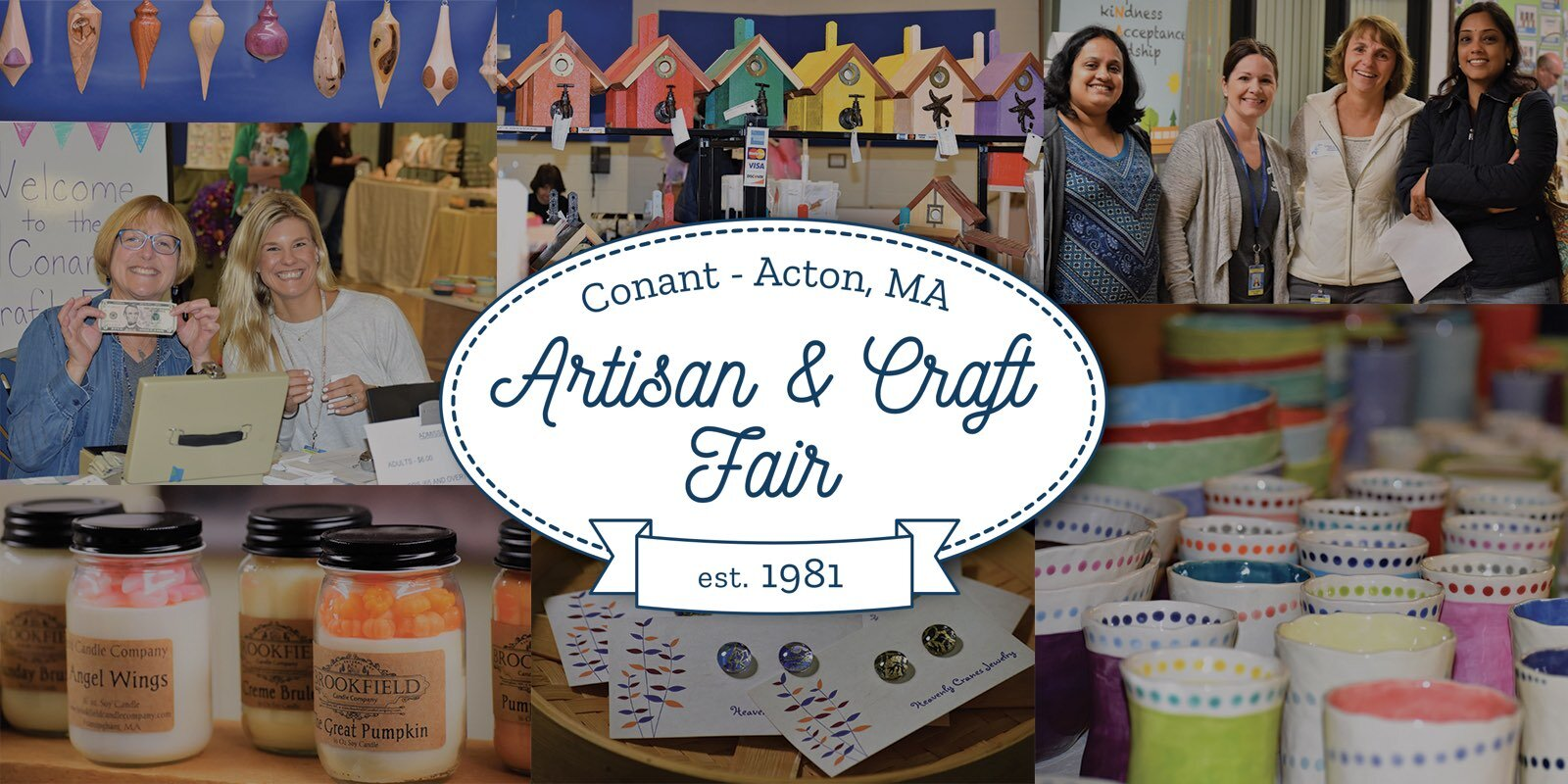 The Conant Artisan & Craft Fair is a not-for-profit event which generates funds to enrich the academic experiences of Conant Elementary School students in Acton, MA. All proceeds generated by the fair supports us our students and the school community. By attending or exhibiting, you are providing funds to support the school community with: Teacher Assistants, Cultural Enrichment Activities, Author Visits, Community-building Events, and more!