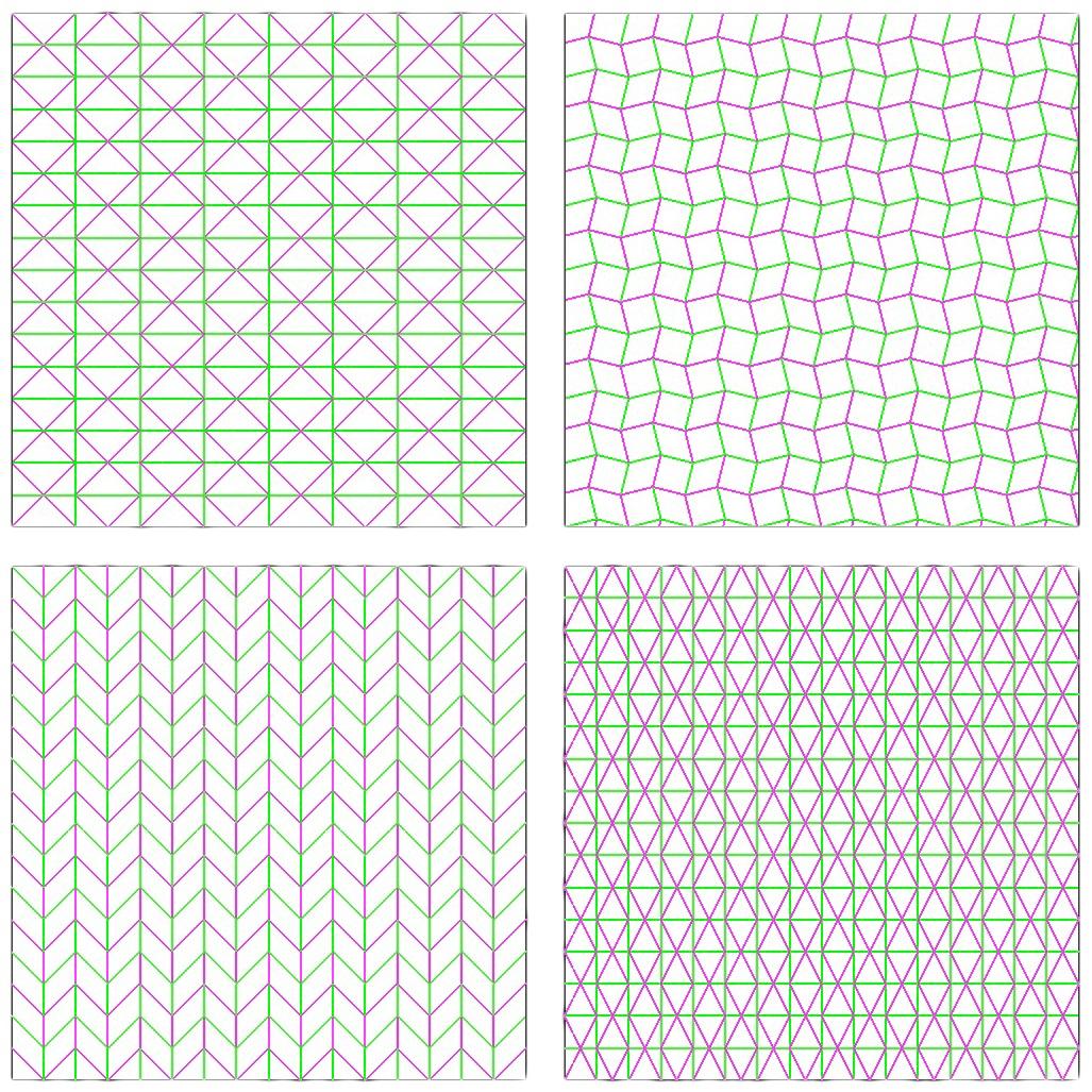 Basic tessellated fold patterns