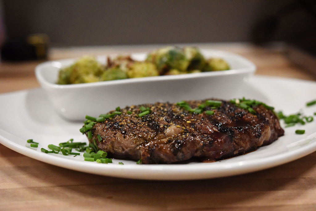 Thriving Thistle Bistro Steak and Brussel Sprouts