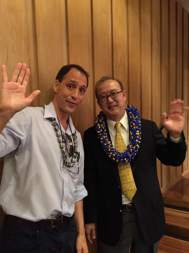Photo: Dr. Yoshimi Tanaka along with interpreter Steve Silver. Thank you for an educational and entertaining presentation.