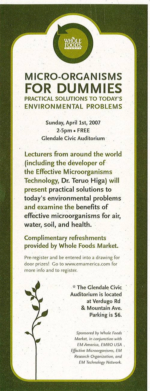 """"""" Micro-organisms FOR DUMMIES """" sponsored by Whole Foods Market"""