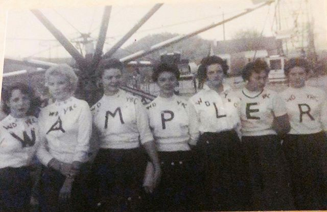 """Team W A M P L E R at the fair!! circa 1957  Sent to me by the family of Loretta (Phillips) Salyers """"M"""" and Belva (Phillips) Hall """"P"""" from Dante, VA #wamplerfordelegate"""