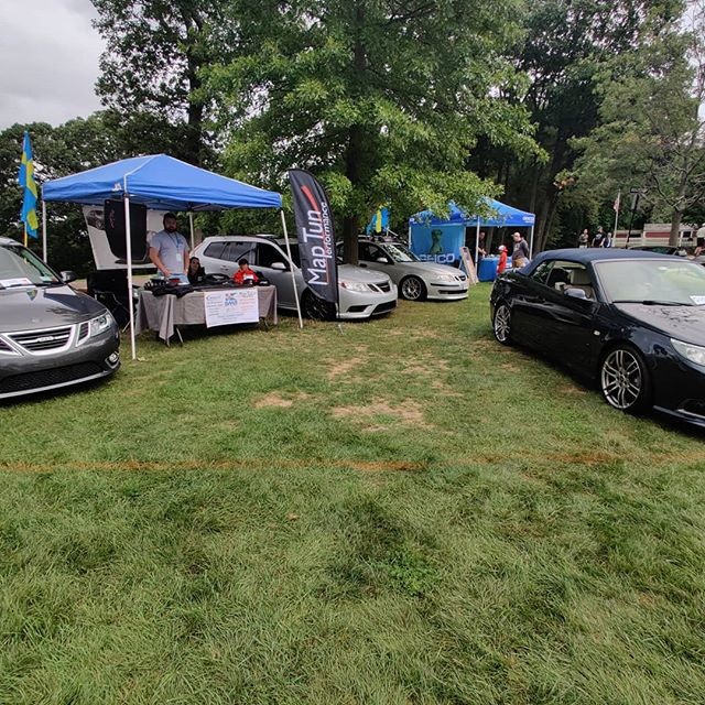 Stop by and say to us today. We'll be here all day offering show specials on @maptunparts , hirsch, and @saab.esid products.  #saabnation #saabplanet #maptun #maptunperformance #saab93 #saab95