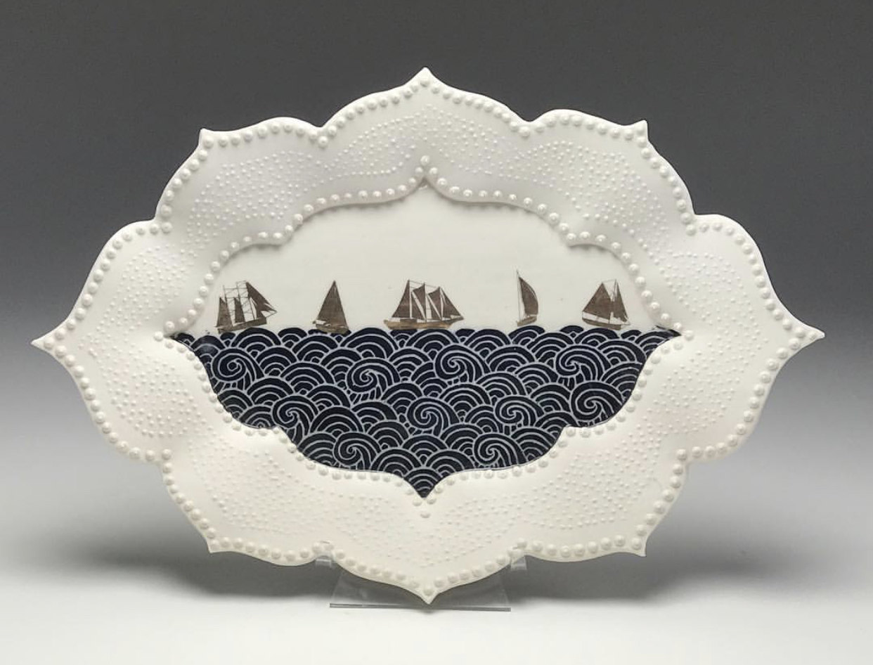 Sailing Ship Decorative Platter