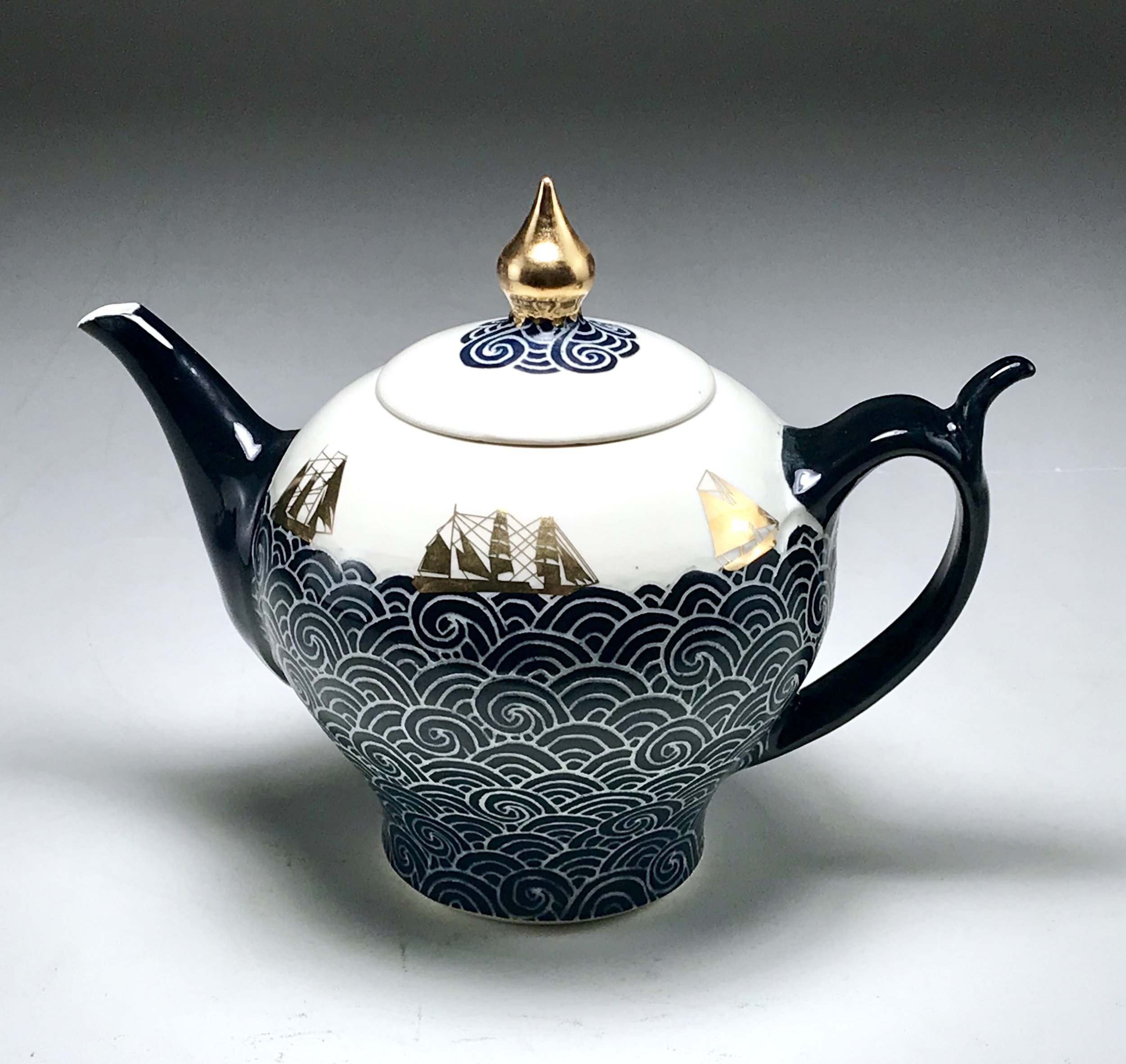 Sailing Ship Tea Pot
