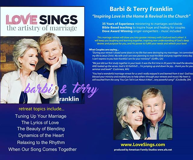 Excited! Nationwide promotions begin for our new marriage retreat tomorrow! #LoveSings