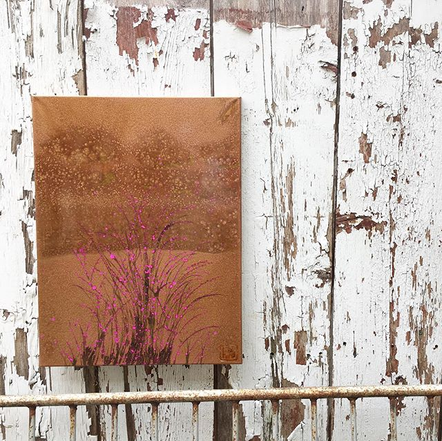 ":: Copper Meadow 1 & 2 :: 16x20"" mixed media on Canvas . @kuki_arts Meadow paintings are always a fan favorite. Touches of color like flowering branches captured in layers of polyurethane are carefully painted against the textured silhouettes of distant trees. Sometimes I think of copper snow. Sometimes I look at these and just smile... . 📍 Sat 10-5 📦 Online 24/7 📨 DM inquiries . #shopsmall #abstractpainting #artistsoninstagram #veteranartist #veteranowned #nature #makeartnotwar #ooak"