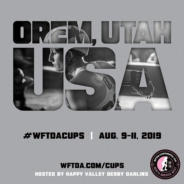 Can you believe this is LESS THAN A MONTH AWAY!? We can't. We're so excited to be hosting the 2019 WFTDA Continental Cup for North America West!  Twelve roller derby teams from around the world will be invited to compete in an epic battle to determine who is the best in the west. These leagues are ranked among the top teams in the world. Utah county's own roller derby league has been selected to host and compete in this amazing event at the UCCU Center in Orem, Utah. August 9-11! These impressive, physical bouts are full of family-friendly, action-packed fun.  Stay up to date on important announcements from the Women's Flat Track Derby Association @wftda and check us out on Facebook & Instagram @happyvalleyderby #rollerskating #rollerderby #skate #wftda #rollerskates #continentalcup