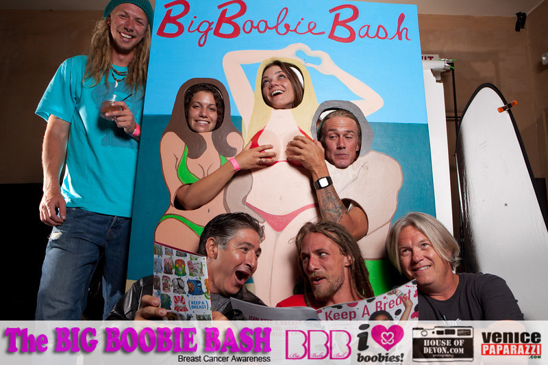 "Janessa created a 3D photo-op cutout for ""The Big Boobie Bash"" Breast Cancer Awareness fundraiser in 2011."