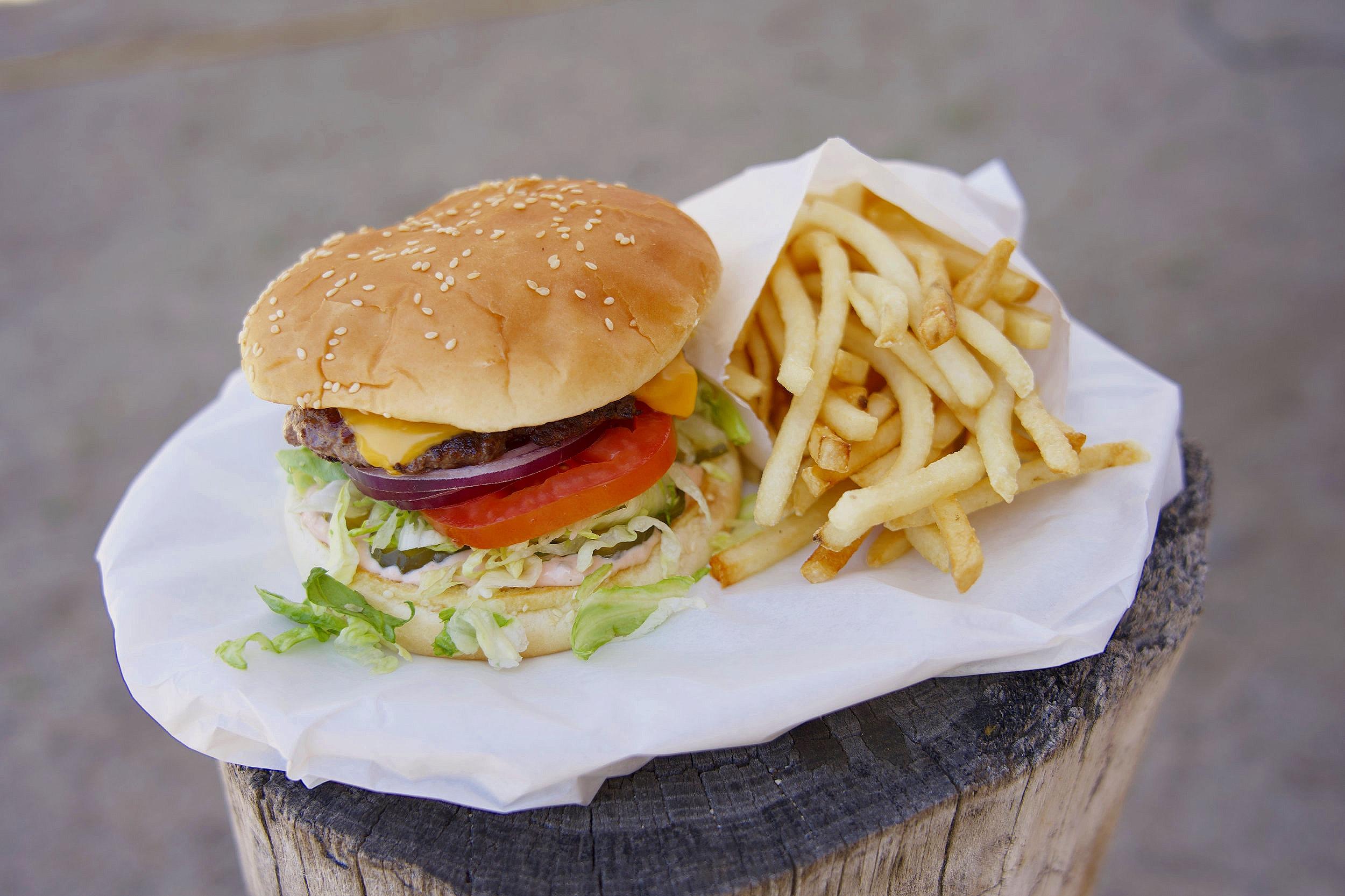 Burgers - McNally Burger (6oz)......$6.00Hamburger (3oz).............$5.00Add ons: Cheese $0.50, Bacon $1.50Extra Patty (3oz): $2.25 (6oz) $2.75