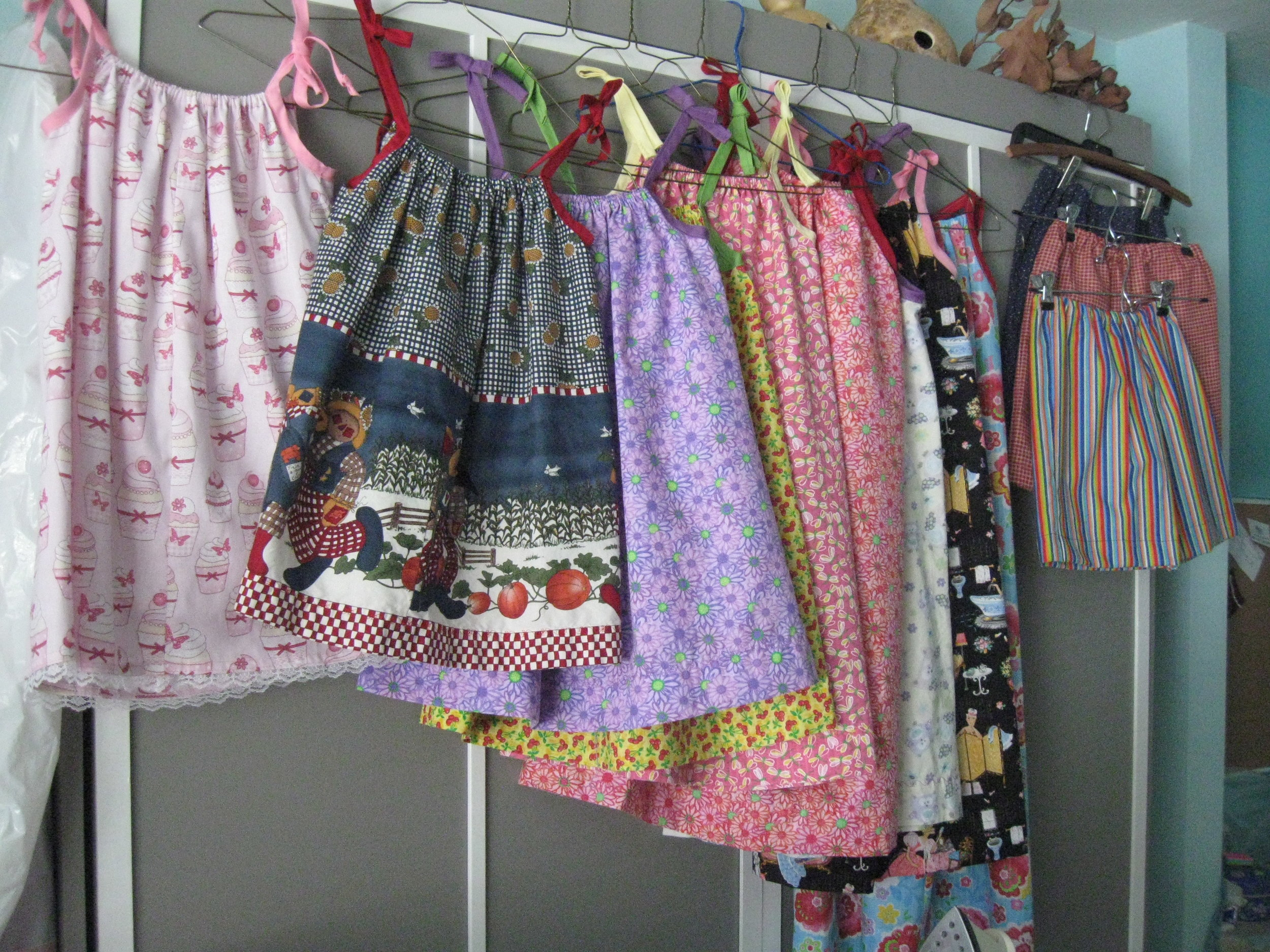 """Little Dresses and Little Shorts"" are made to send to children across the world who appreciate wearing new clothing made with love. It's a joy for us to make ""Little Dresses and Little Shorts"" for the children of the world!"