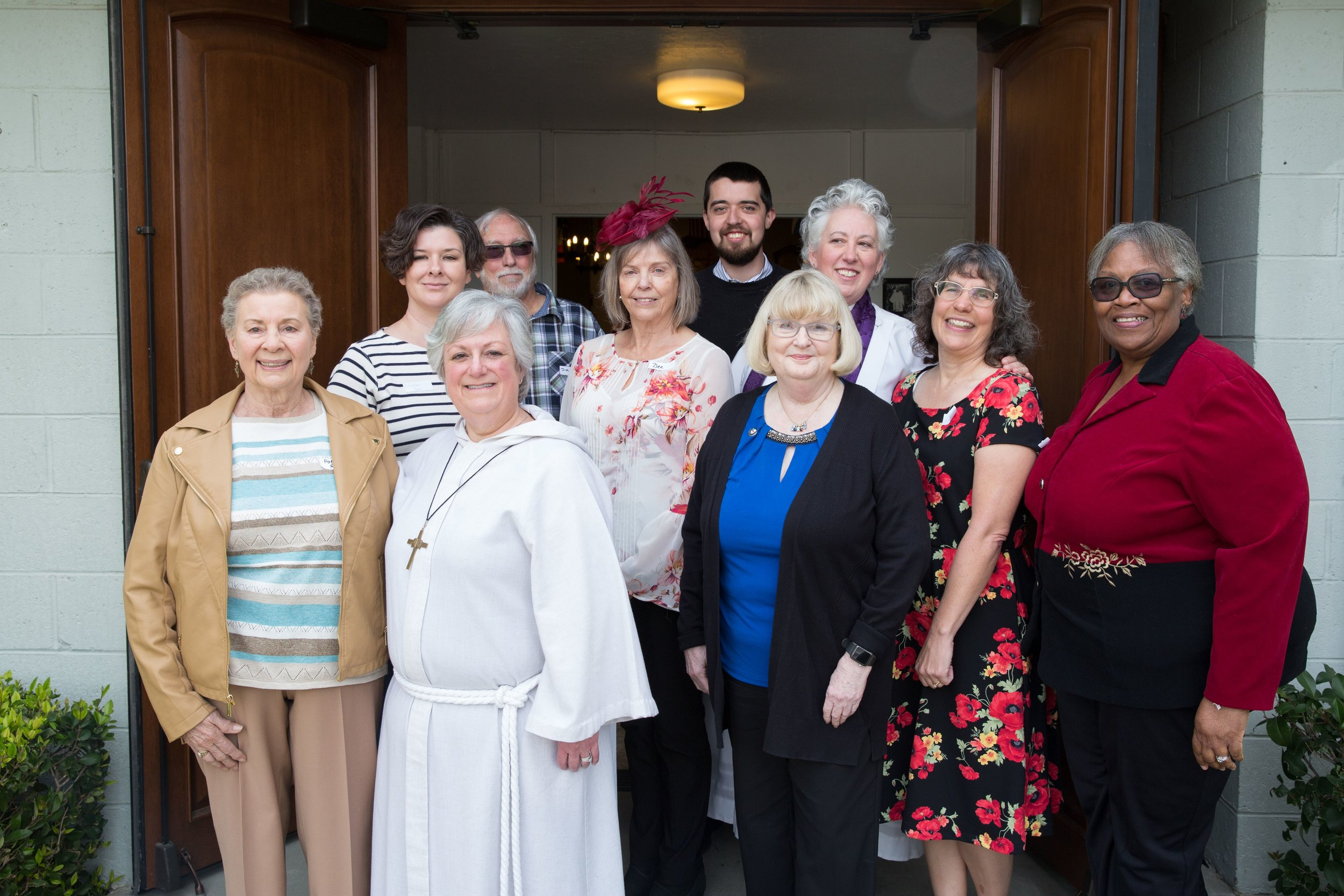 The Rev. Jill Honodel  -   President,  Michelle Price  - Sr. Warden,  Dee Dwelley  -Jr. Warden,  Susan Black  -   Treasurer,  Christine Speer  - Secretary,  Mimi Costa-White, Pat Rimmer, Betty Smith, Jakeb Stanley, Jim Wiant