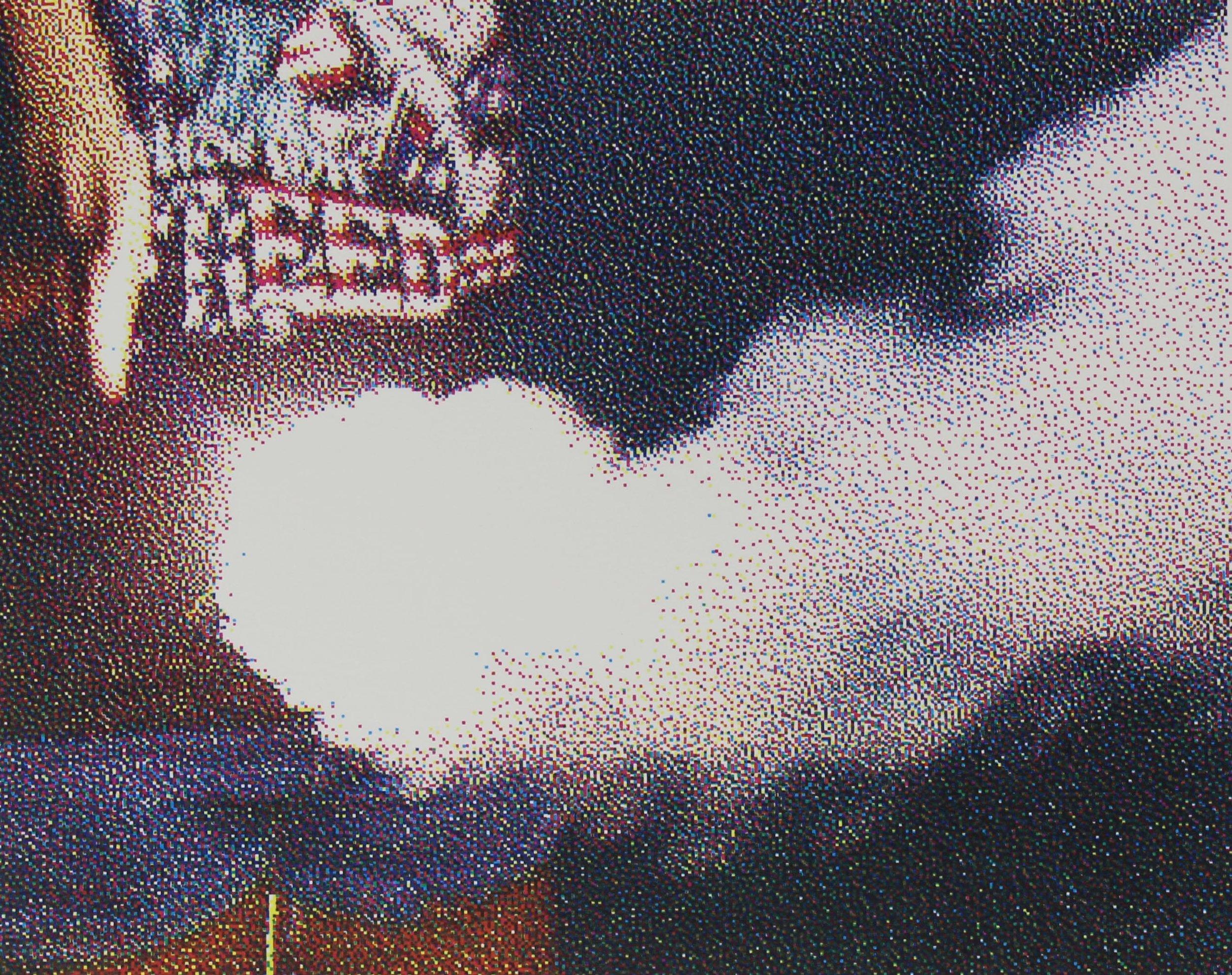 "SHOCK & AWE: Smoke  CMYK Screenprint. 8 x 10"" 2018"