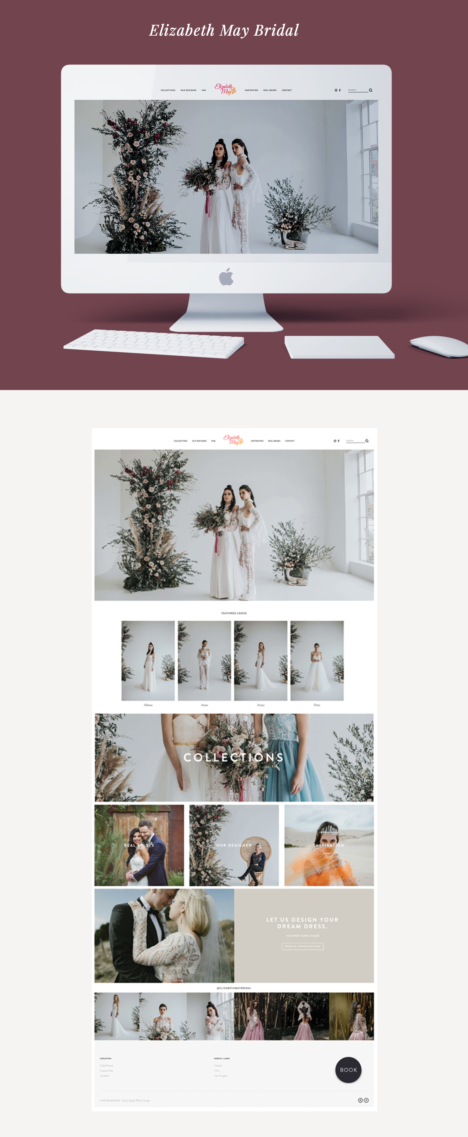 elizabeth may bridal simply whyte design squarespace design