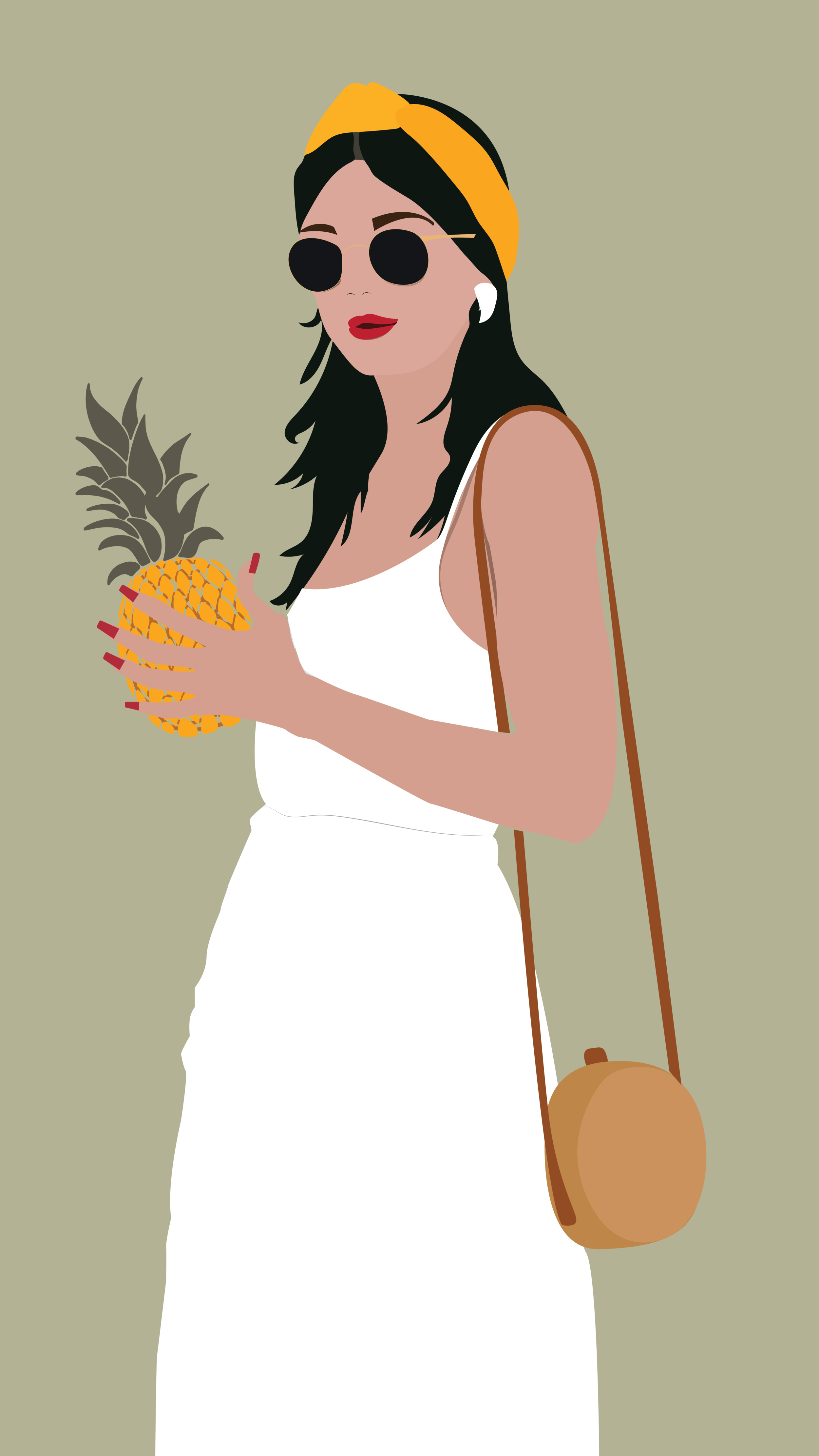 fashion woman tropical holding pinapple_icolated-01-01.png